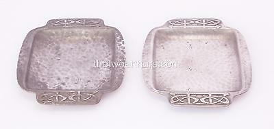 Pair Liberty & Co Archibald Knox Pewter Trinket/Jewellery Trays Arts and Crafts