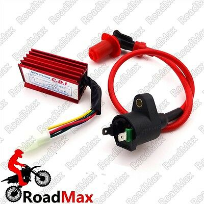 Red Ignition Coil 5 Pin AC CDI For XR50 CRF50 Pit Bike Motorcycle 110 125cc