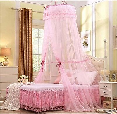 Princess Lace Bedding Mosquito Netting Canopy Single Double King Size 4 Colors