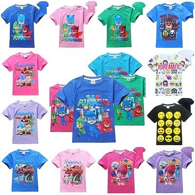 Kids Cartoon SweatShirt T-shirt Boys Summer Tee Tops Clothing Lot