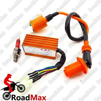 Orange Ignition Coil AC CDI For GY6 50cc Moped Kart XR CRF 50 70 80 100 Pit Bike