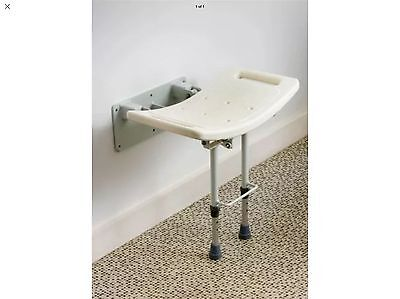 New Wall Mounted Shower Stool With Legs Swall002 Drive Medical  Bnib (Be5)
