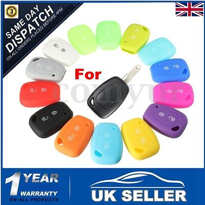 For Renault Trafic Master Kangoo 2 Buttons Silicone Remote Key Case Fob Cover UK