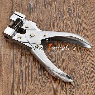 T-shape HandHeld Hole Punch Hand Puncher PVC Card Paper Tag Manual Hole Cut Tool