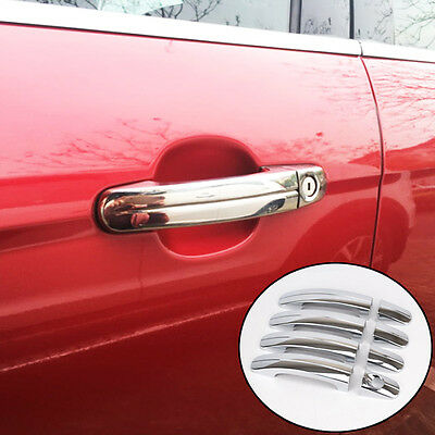 Fit For 05-11 Ford Focus Mk2 Chrome Door Handle Cover Trim Catch Molding Overlay