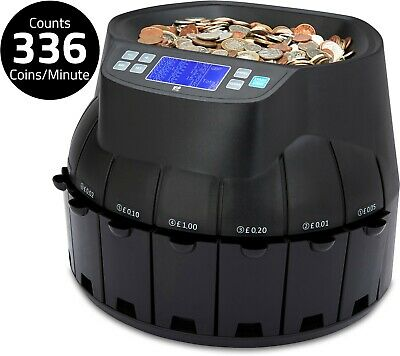 Auto Electronic Money Coin Cash Currency Counter Counting Sorter Machine Gbp Uk