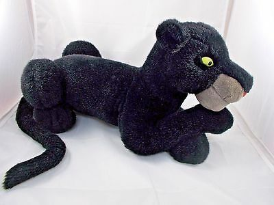 "Disney Bagheera Jungle Book Plush Black Panther 20"" Long"