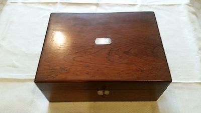 Antique wooden sewing/document box