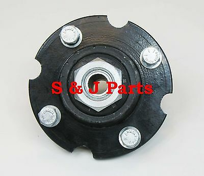 "Tail Wheel Cast Iron Hub - Bearings - Adjustable 3Pc Bushing - Fits 3/4"" Axle"