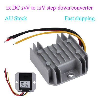 Waterproof DC/DC Voltage Converter Regulator 24V Step Down to 12V 5A Adaptor OJA