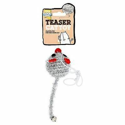Good Girl Glitter Mouse Bungee Teaser With Bell Cat Kitten Toy