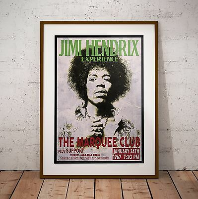 Jimi Hendrix 1967 First Marquee Concert Print Posters Three Sizes NEW Exclusive