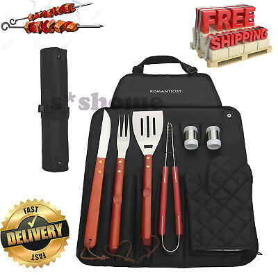 BBQ Grill Tool Set Stainless Steel Tools Barbecue Utensils Accessories Case Gift