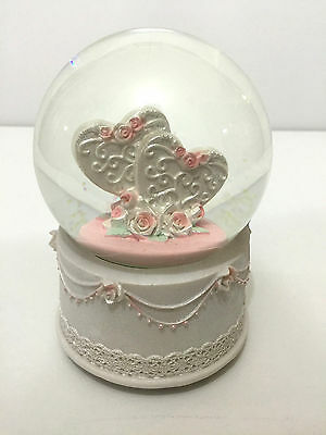 2 Hearts Together Snow Globe (B) - MUSICAL - LARGE