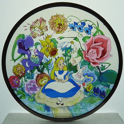 Glassmasters for Disney NOS Limited Edition 2000 Alice in Wonderland Art Glass