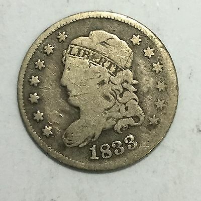 1833 H10C Capped Bust Half Dime VG-F