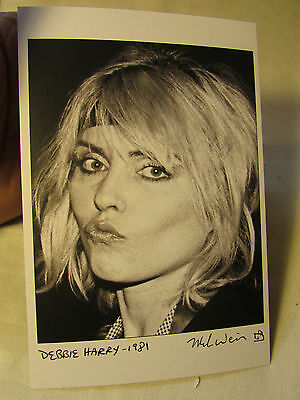 Rock Music Photographer Mark Weiss Gallery Photograph Card DEBBIE HARRY Blondie