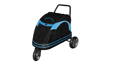 Pet Gear AT3 Pet Stroller, Cat Dog Pram, Black / Blue