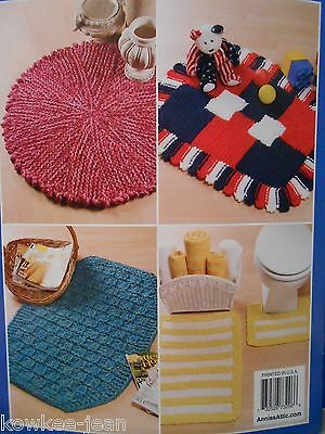Big Needle Knit Rugs: 10 yarn throw rug knitting patterns