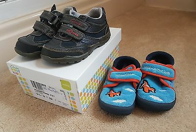 Boys Clarks shoes and slippers. Infant Size 5.5