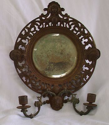 Antique Mirror Candle Sconce  Very Old