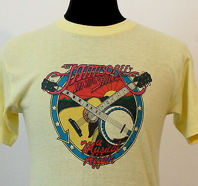 vintage 80s JAMBOREE in the HILLS country music CONCERT T SHIRT soft thin 80s