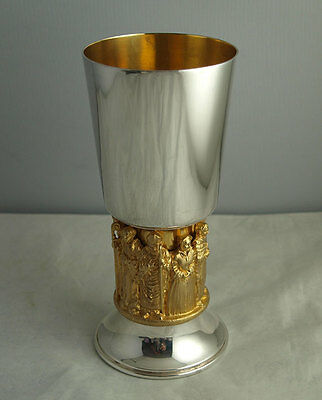 Hector Miller For Aurum Solid Silver Winchester Cathedral Goblet - London 1979