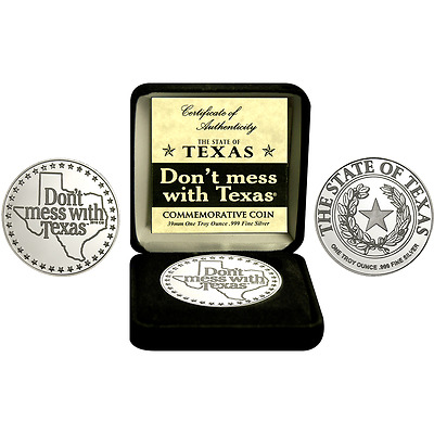 2016 Don't Mess With Texas 30th Anniversary 1 oz Silver Commemorative Round Coin
