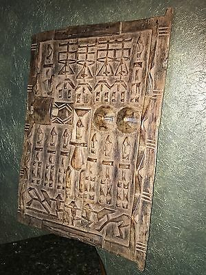 Original- Antique African Dogon Carved Granary Door. (Wall Hanging Decoration)