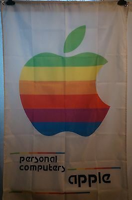 APPLE Personal Computers Vintage Colored Flag Banner Man Cave Computers Mac 3X5