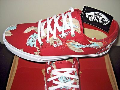 183d8d246ba Vans Mens Chukka Low Aloha Chili Pepper Red Canvas Skate Shoes Size 11 NWT