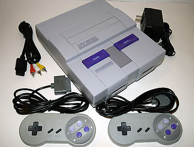 Super Nintendo SNES Console Video Game System GREY COLOR and COMPLETE