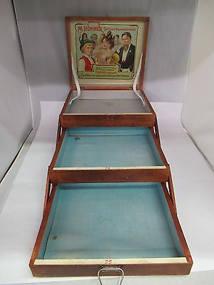 Vintage Wooden M. Hohner's World Renowned Harmonicas Display Box, 584-T