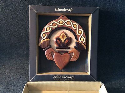 """""""Islandcraft"""" Celtic Wood Carving New In Box BEAUTIFUL !!!!!!"""