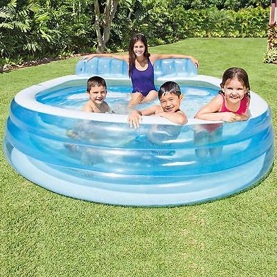 Intex large rectangular family swimming paddling pool Intex swim center family pool cover