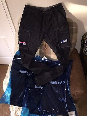New Team Issue Repsol Honda Motogp Gas Denim Crew Trousers. 36 Waist. Rare