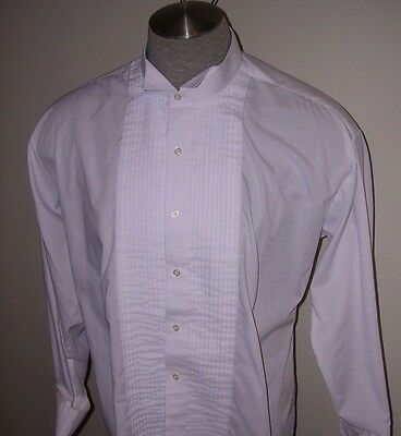 #135 Mens White Victorian Wing Tip Pleated Shirt For Dickens  Costume 2Xl