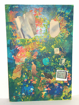 Original Britsh POP ART Painting/Collage J.Godbert Wriothesley The Fall artist