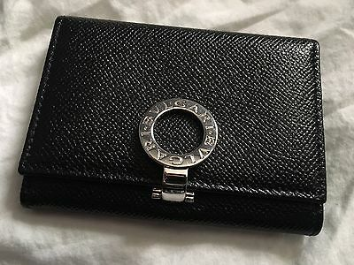 BVLGARI Leather Card Holder Case Wallet