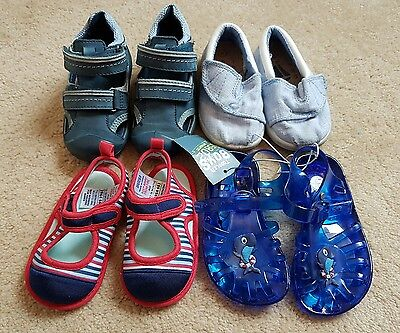 Boys infant size 4 summer shoe bundle. Next. Jelly Shoes.