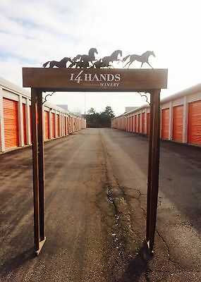 (L@@K) 14 HANDS WINE WOODEN Trellis HORSE Display sign liquor store Barn Stable