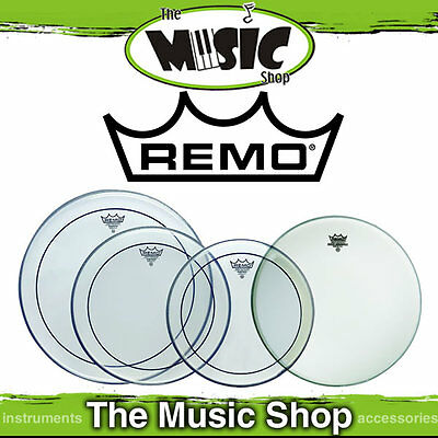 """Remo Pro Drum Head Pack - Pinstripe Rock Skins 12"""", 13"""", 16"""" +14"""" Amb PP-0320-PS"""