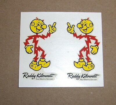 Vintage 1960's REDDY KILOWATT Wet-transfer Decal