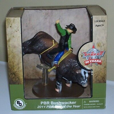 NEW PBR 2011 Bull of the Year Bushwacker 1:20 Cowboy Riding Big Country Toys