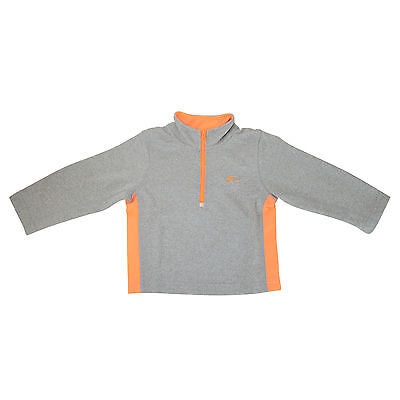 NWT Carters Boys Pull Over Athletic Jacket PullOver Size 2T Grey/Orange ON SALE!