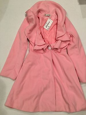 NWT OZGZ PINK COAT Lined Youth Girls SIZE L Large