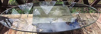 Large Silas Seandel Brutalist Coffee Table Mid Century Modern Brass Glass Top
