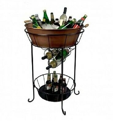 Beverage Cooler With Stand Ice Bucket Tub For Parties Restaurant Party Station