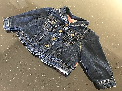 Pumpkin Patch Baby Girl Size 0 Denim Jacket Thick Lined Just Gorgeous