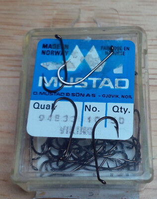 Mustad 94833, Size 10, Package of 100, Vintage Fly Tying Hooks